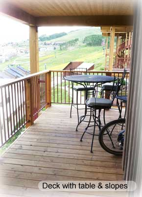 deck with slope view