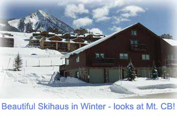 Winter at the 4 bedroom Skihaus for rent in Crested Butte Colorado