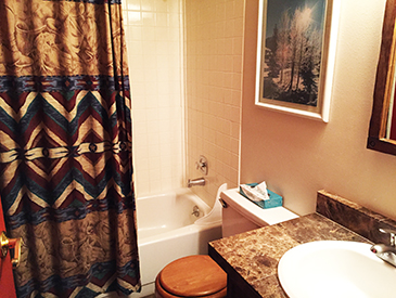 first bathroom at the Three seasons in Crested Butte
